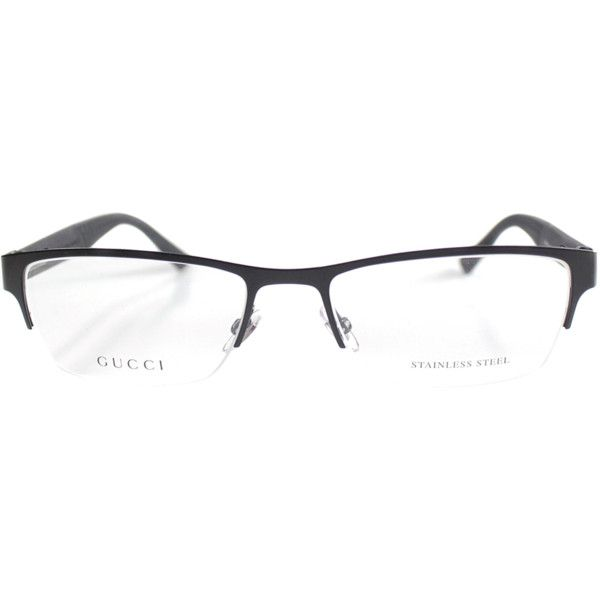 Gucci Semi-Rimless Metal Eyeglasses (390102001) ( 221) ❤ liked on Polyvore  featuring men s fashion a6d965833b3f8