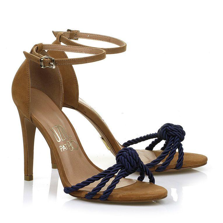 Sandália Salto Alto Cord Olv Blue