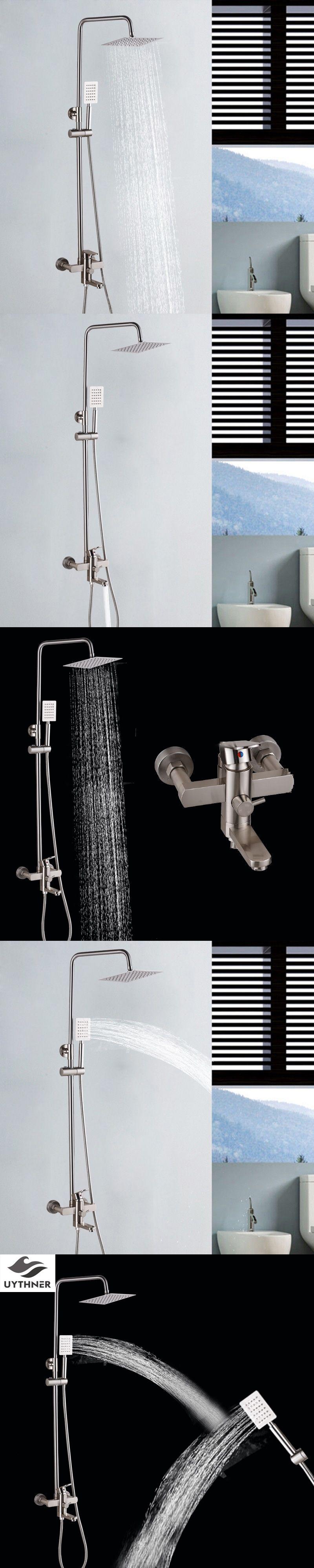 Uythner Fashion Style 8 Inch Brushed Nickel Bathroom Shower Faucet ...