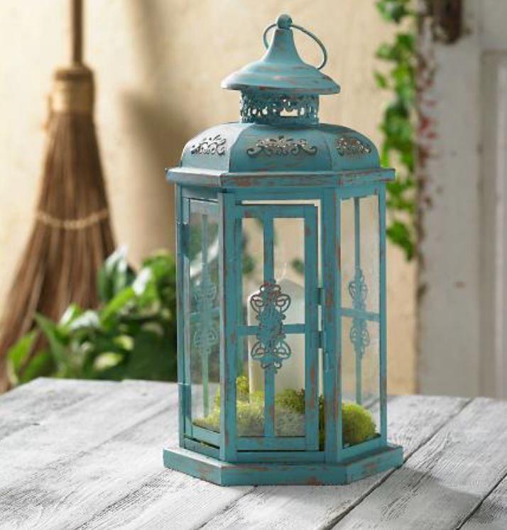 Chalk Finish Indoor Outdoor Metal Lantern Joann Jo Ann Metal Lanterns Painted Lanterns Diy Lanterns
