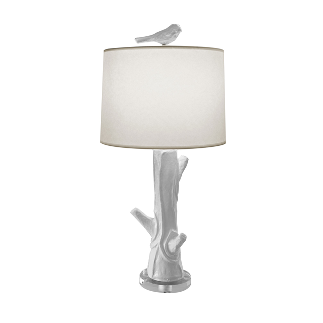 Bir Accent Lamp In White Lighting Table Wood