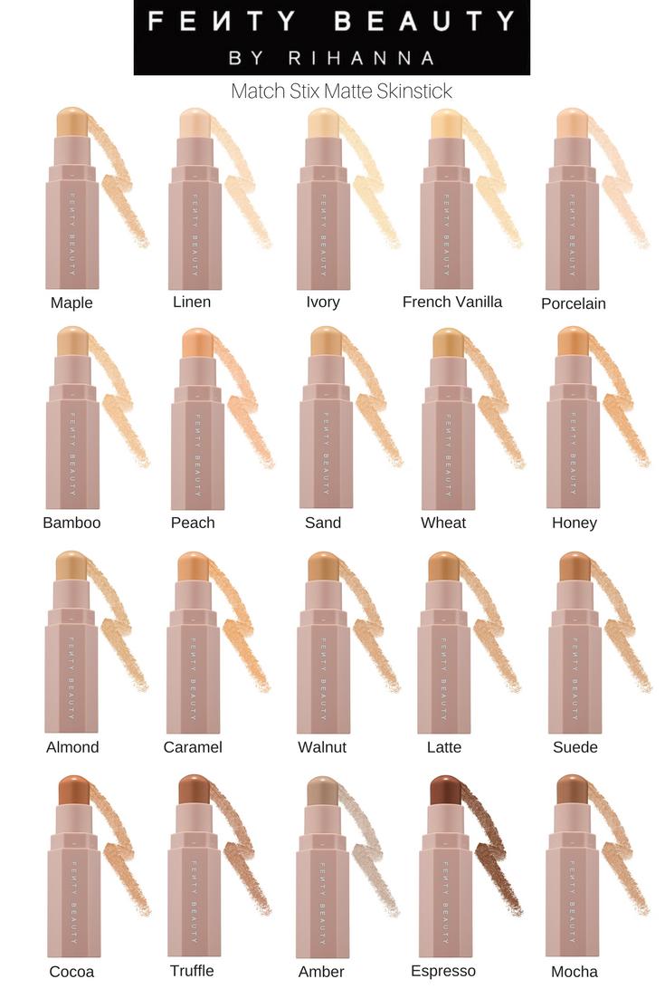 6f7879b9c Fenty Beauty Matte Match Skin Sticks - Matte Highlight, Matte Concealer,  Matte Contour