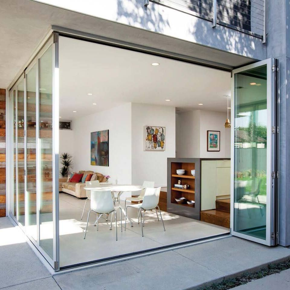 The Innovative Zero Post Corner System By Lacantina Doors Opens Up Corners Without A Support Post Residential Design Interior Design Outdoor Dining Room