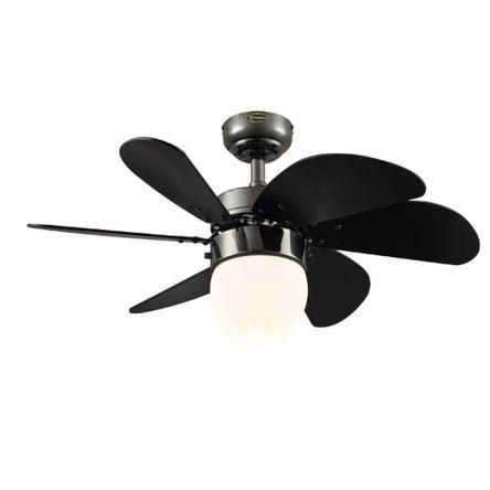 Westinghouse Westinghouse Lighting 7226100 Turbo Swirl CFL Single-Light 30-Inch Six-Blade Indoor Ceiling Fan, Gun Metal with Opal Frosted Gla