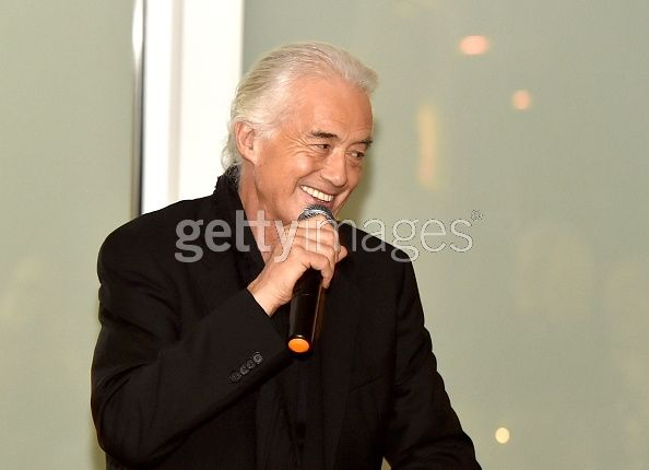 Jimmy Page at a private dinner and reception held for him in L.A. Nov. 13, 2013 at the Sunset Hotel and Villas.