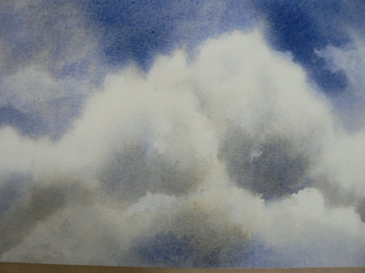 Painting A Cloud In Watercolor Free Video Tutorial By Alison