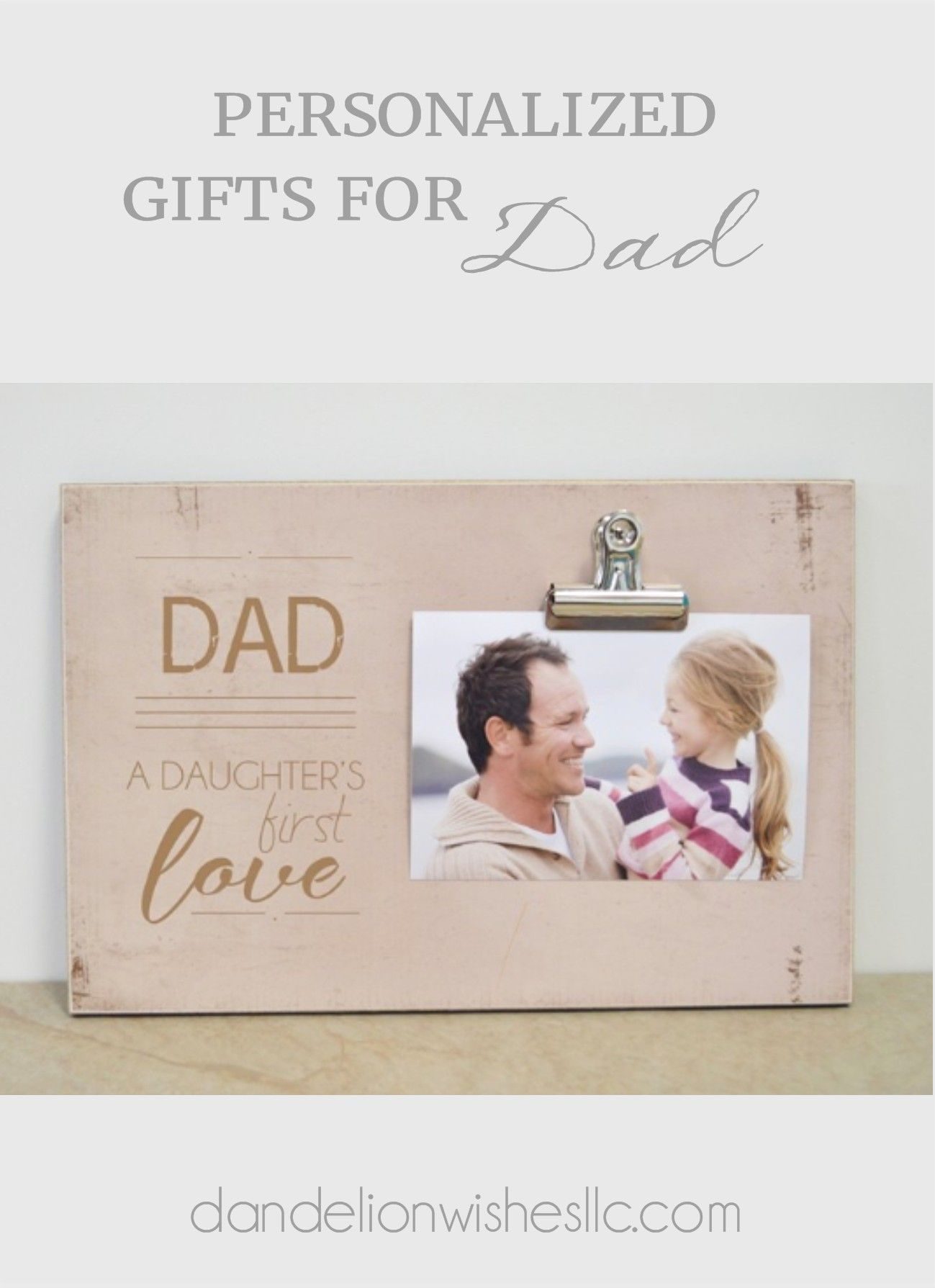 Christmas Gift for Daddy from Daughters Wood Engraved Picture Frame for Dad Personalized Picture Frame for Daddy Christmas Gift to Daddy For Dad from Daughters