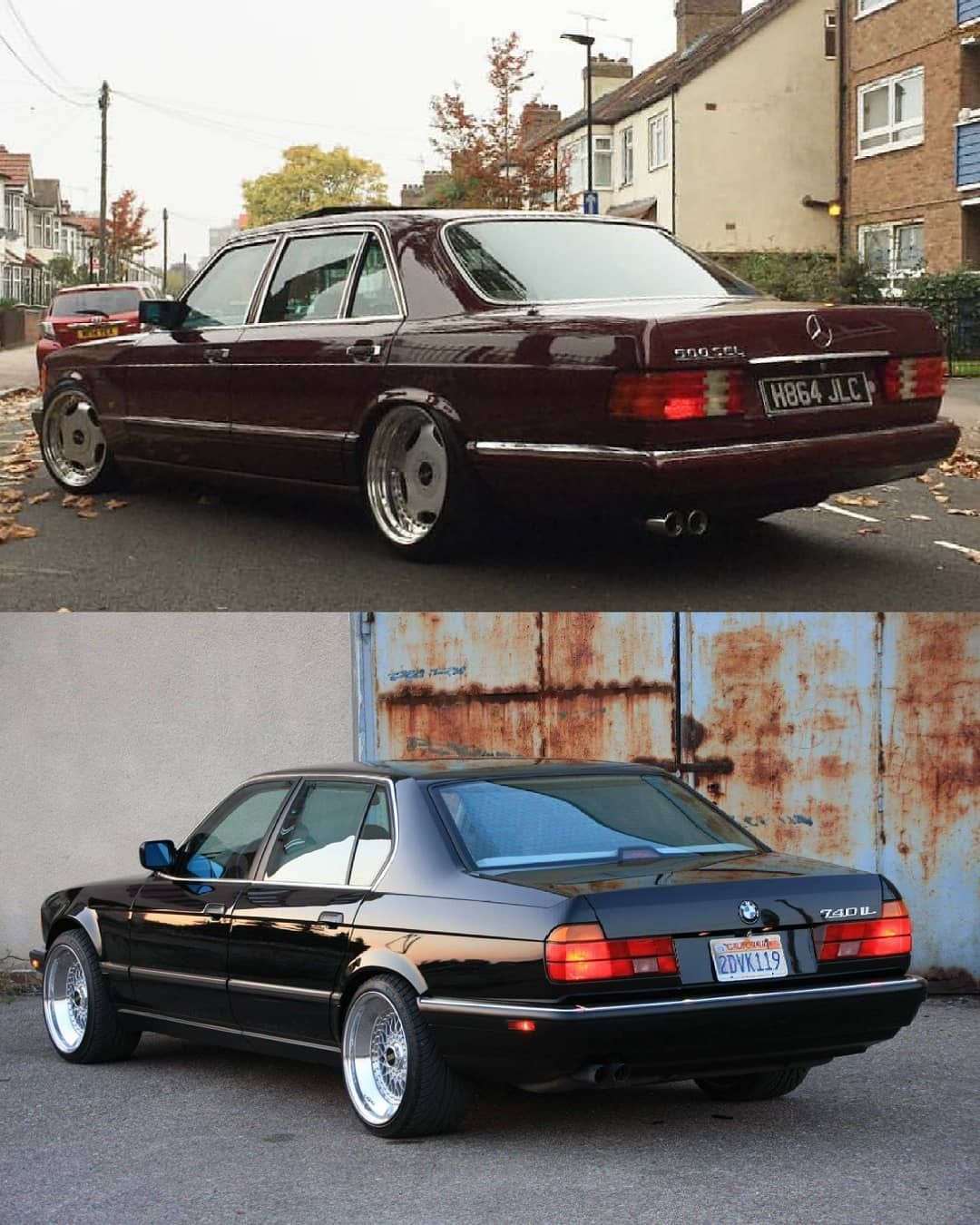 Which One Bmw E32 Mercedes W126 Bmwmercedesmagazine Bmwe32