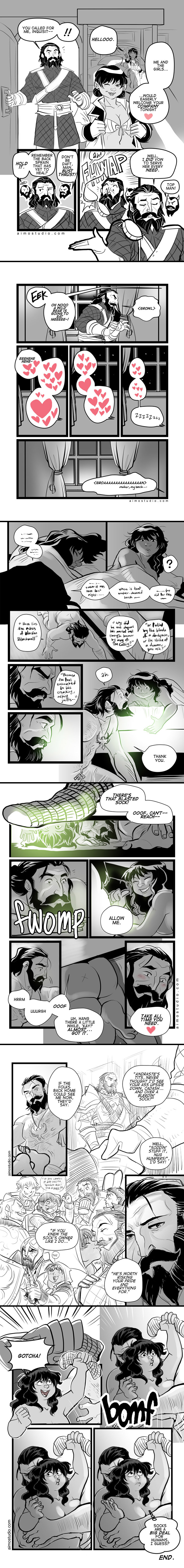 DAI - The Sock Saga by aimo on DeviantArt -- I like Blackwall, but this is too…