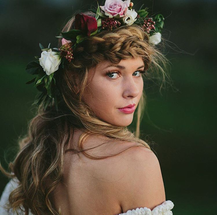 Fall Wedding Hairstyles With Flower Crown: White Magazine - Beautiful Hair