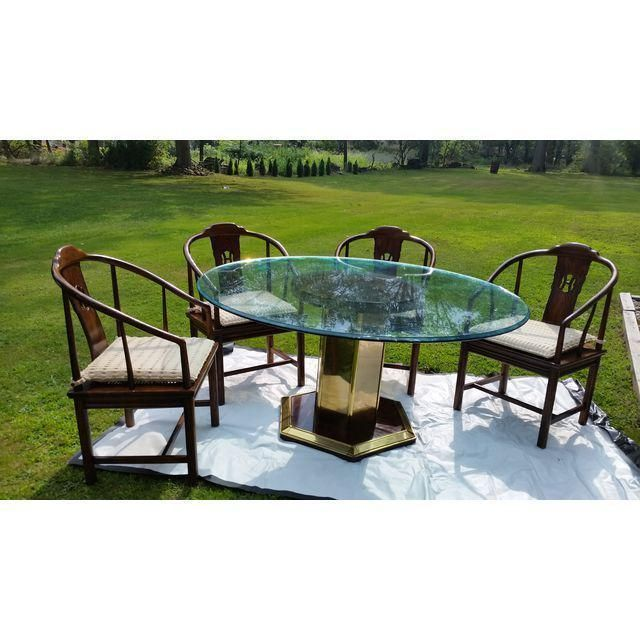 Henredon Dining Room Set Table Chair Glass #midcenturymodern Awesome Henredon Dining Room Sets Decorating Inspiration