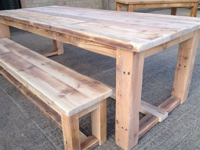 Charming Reclaimed Wood Table U0026 Bench