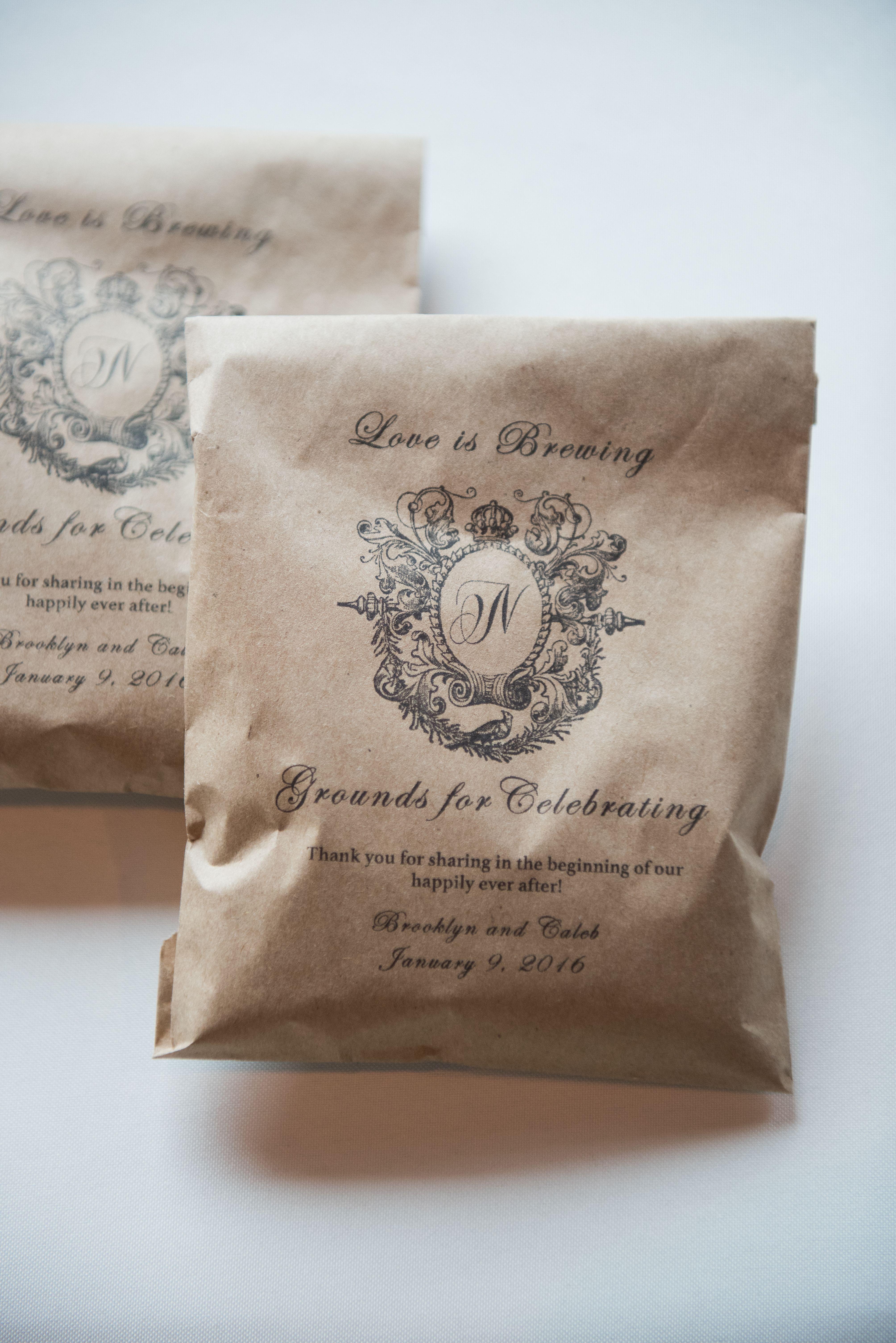 Freshly Ground Coffee Wedding Favor Coffee wedding