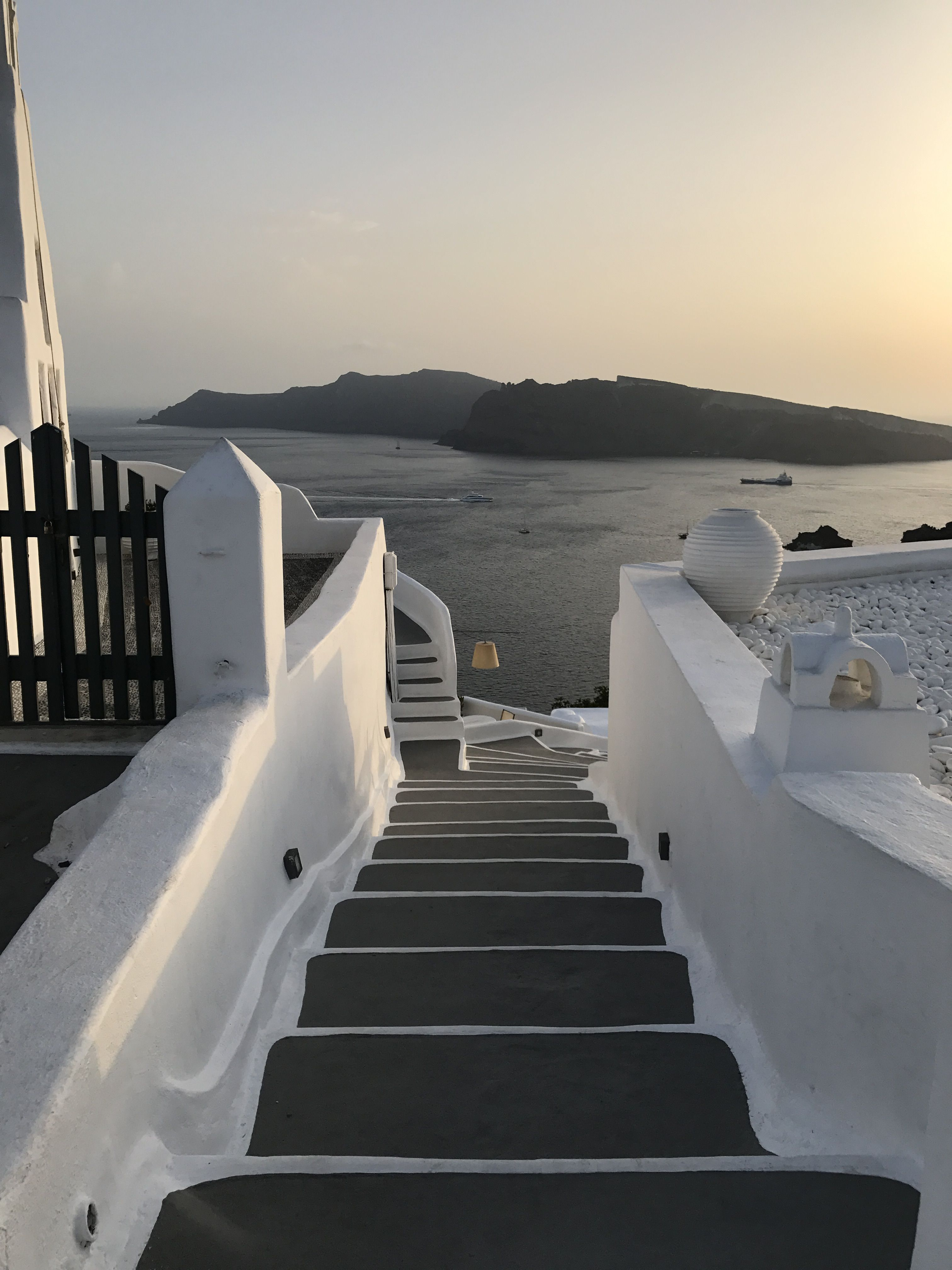 Can't get enough stairs in Santorini