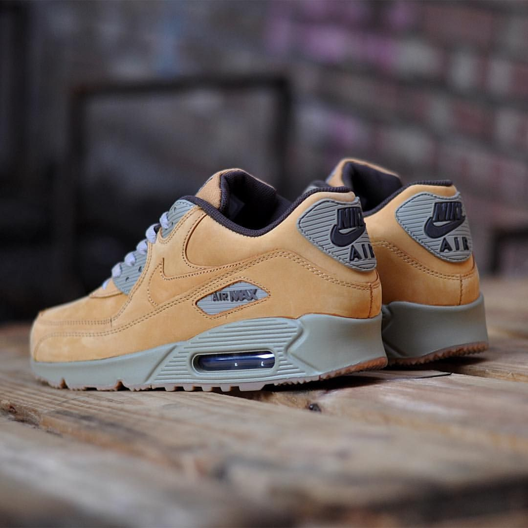 nike air max 90 winter premium wheat sneakers. Black Bedroom Furniture Sets. Home Design Ideas