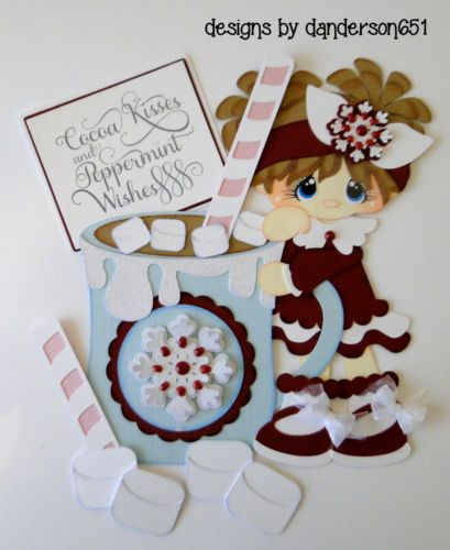 VACATION KIDS Die Cuts Paper Piecing Set PreMade Border Scrapbook danderson651