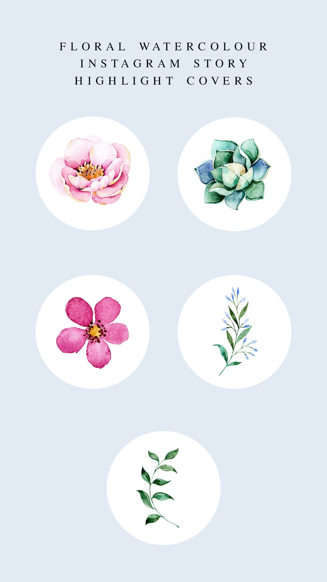 Style Your Screen Free Floral Watercolour Instagram Story