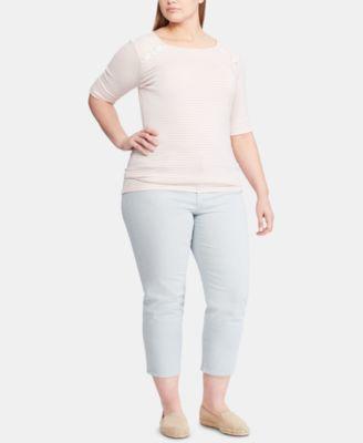43dde445fefcb Lauren Ralph Lauren Plus Size Top - Pink 2X