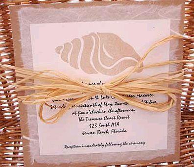Otro modelo de invitación de #boda impresa con detalle marino decorada con un lazo de mecatillo http://www.bodasmargarita.net