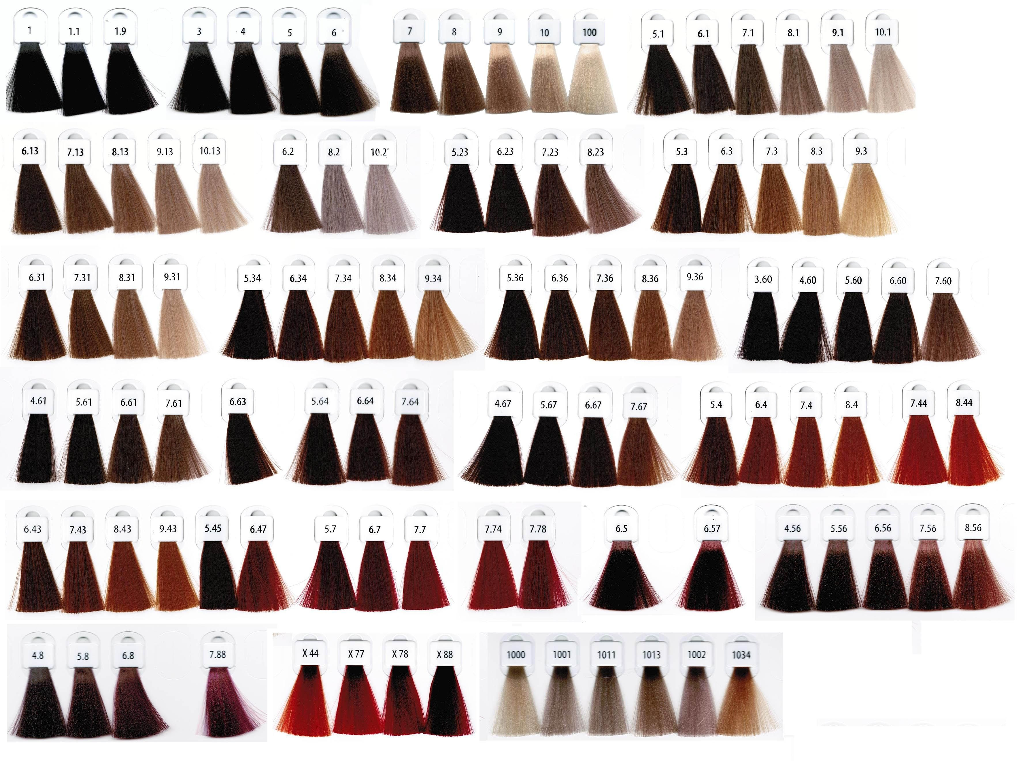 Loreal hair color chart 2016 - Cromatone Montibel Lo Hair Colour Chart