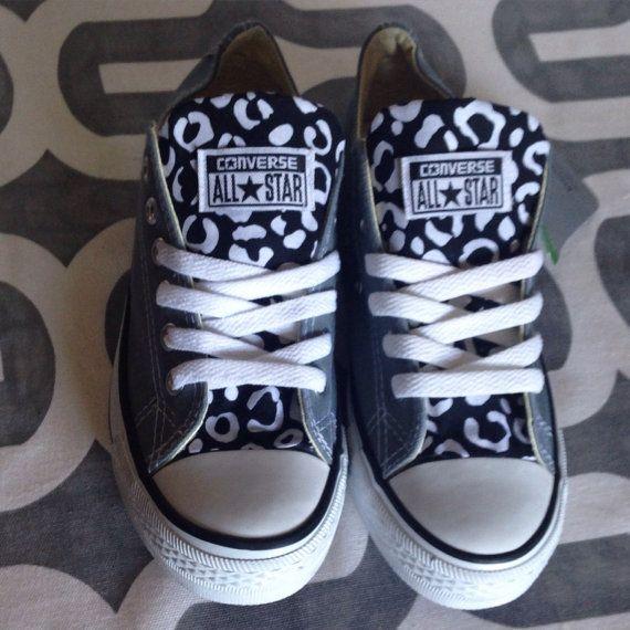 Custom Converse Black Leopard Print #leopard #customconverse #customchucks # cheetah #zebra # · Custom ConverseConverse ShoesCheetahsLeopard ...