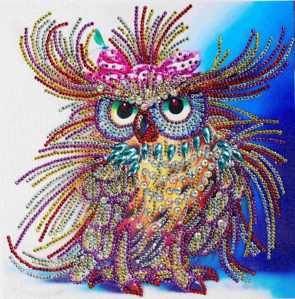 2020 Owl Bird Full Drill 5D Diamond Painting DIY Cross Stitch Kits Mosaic Gift