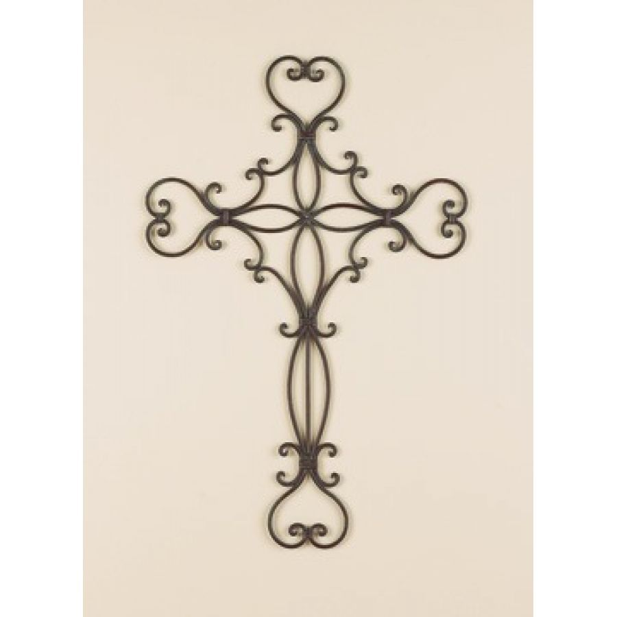 Attractive Decorative Metal Wall Crosses | Wall Decor U0026 Home Accents Scrolled Heart  Wrought Iron Metal Wall