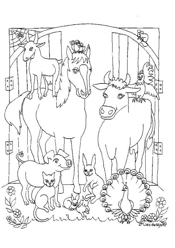 Kleurplaten Voor Volwassenen Koeien.Kleurplaat Koeien Voor Volwassenen Kuh Ausmalbilder Animaatjes De