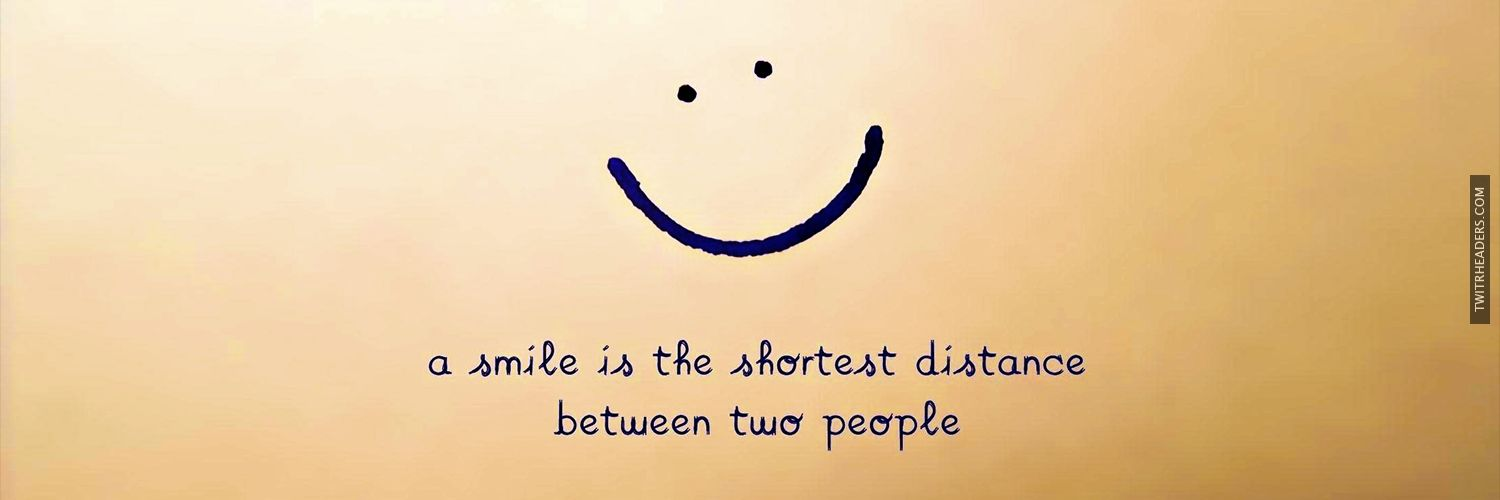 A Smile Quote Twitter Header Cover - TwitrHeaders.com ...