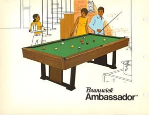 Brunswick Ambassador This Was One Of The Early Home Table That Brunswick Made In The 1970 S In My Opinion Any One I Have Seen Pool Cues Pool Table Vinyl Wrap
