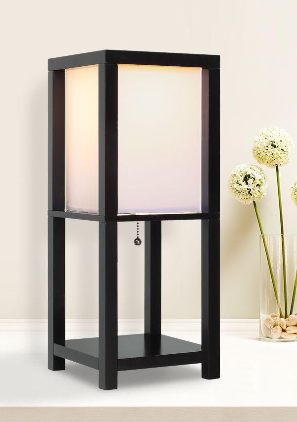 This modern black lamp will complement any decor. http://www.menards.com/main/lighting-fans/indoor-lights/lamps/daniel-1-light-18-5-h-matte-black-square-shelf-lamp/p-1936856-c-7497.htm?utm_source=pinterest&utm_medium=social&utm_campaign=lovelylighting&utm_content=table-lamp&cm_mmc=pinterest-_-social-_-lovelylighting-_-table-lamp
