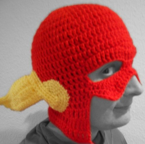 Cute Toddler Kids Girl/&Boy Crochet Knit beanie cap dc comics flash costume