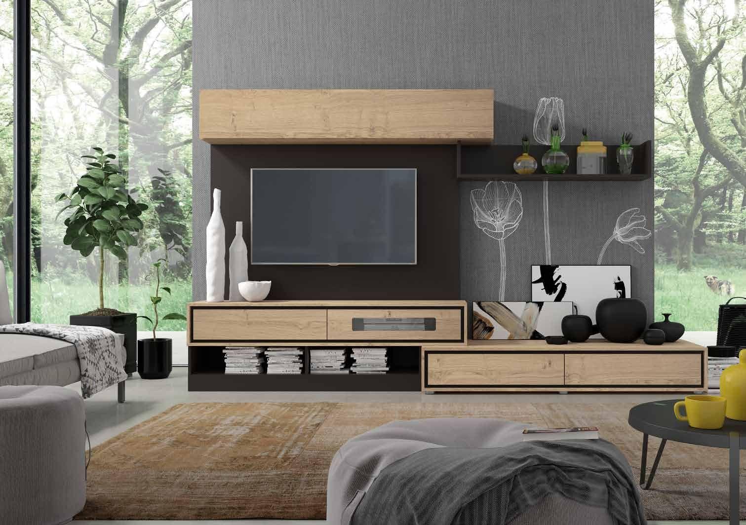 Composición de muebles de salón moderno de la nueva colección ...