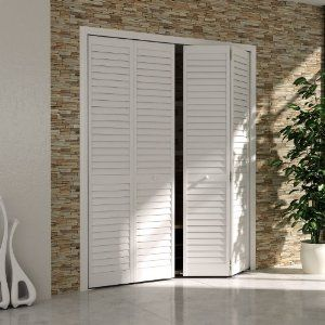Amazon.com: Bi-fold Door, Louver Louver Plantation 1x24x80 White ...