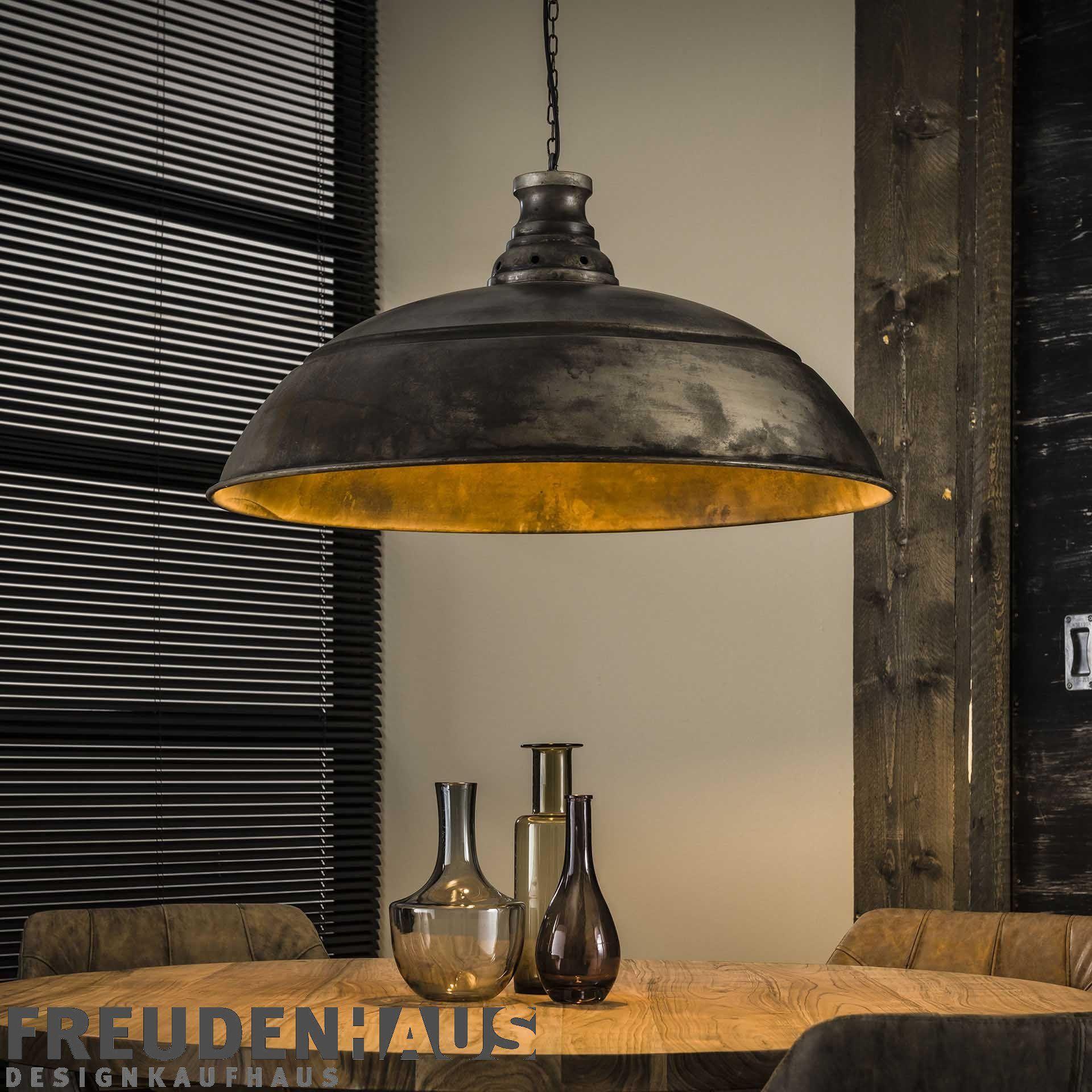 Hangelampe Vintage Industrial O 80 Metall Altsilber In 2020 Grosse Lampen Hangelampe Vintage Lampe