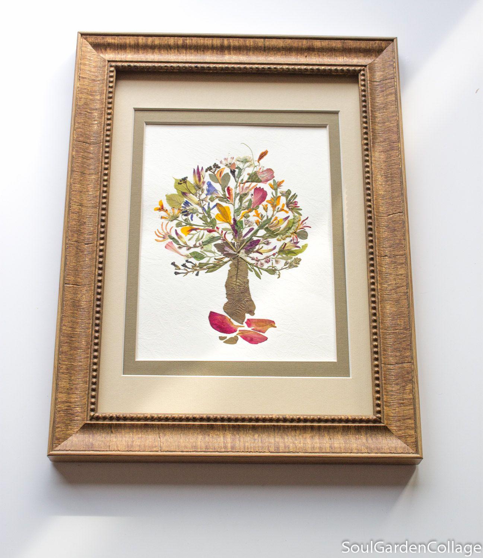 The Tree Of Life Family Tree Ooak Unique Handmade Pressed