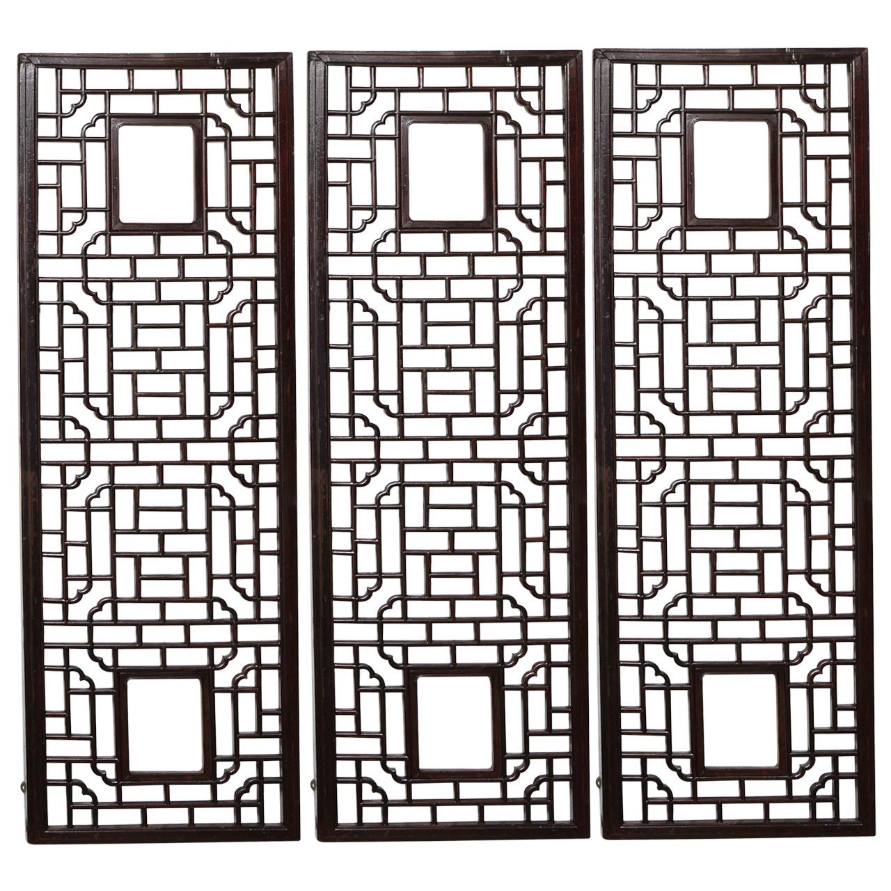 Chinese lattice wall panels stdibs fan faves