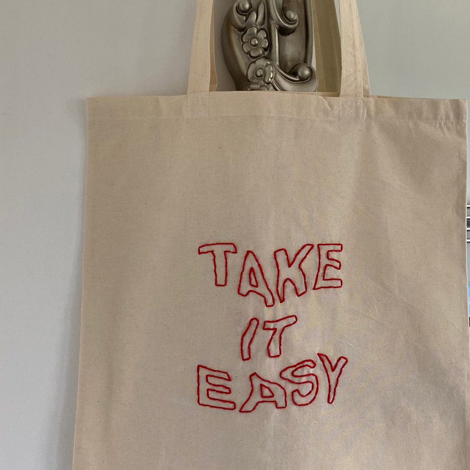~'take it easy' tote bag❤️ ~reusable and... - Depop
