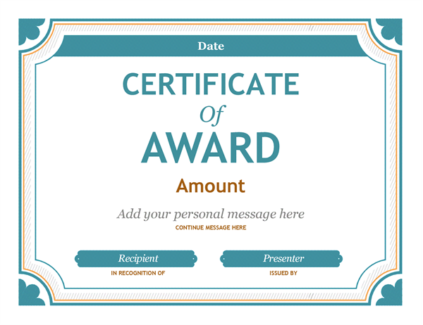 Gift Certificate Award  Franaises    Certificate And
