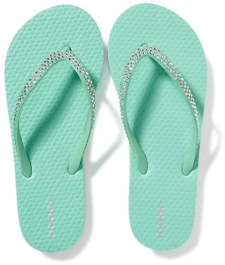 08b14e117602d7 Rhinestone-Embellished Flip-Flops for Girls. Sparkling rhinestones across  upper thong strap. Firm footbed