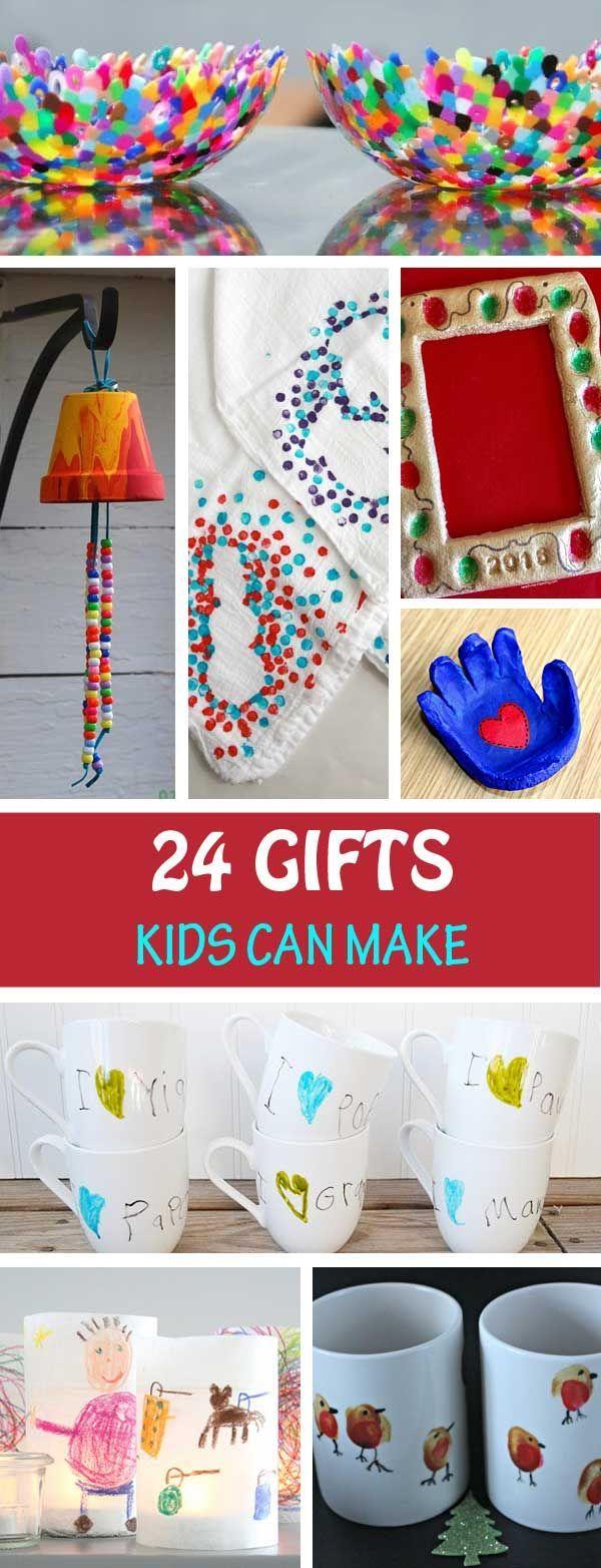 24 Geschenke, die Kinder machen können #grandpagifts