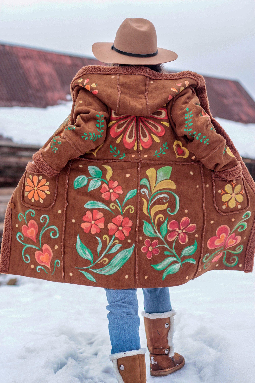Lifestyle Petite Flower Hippie Jacket Size Medium