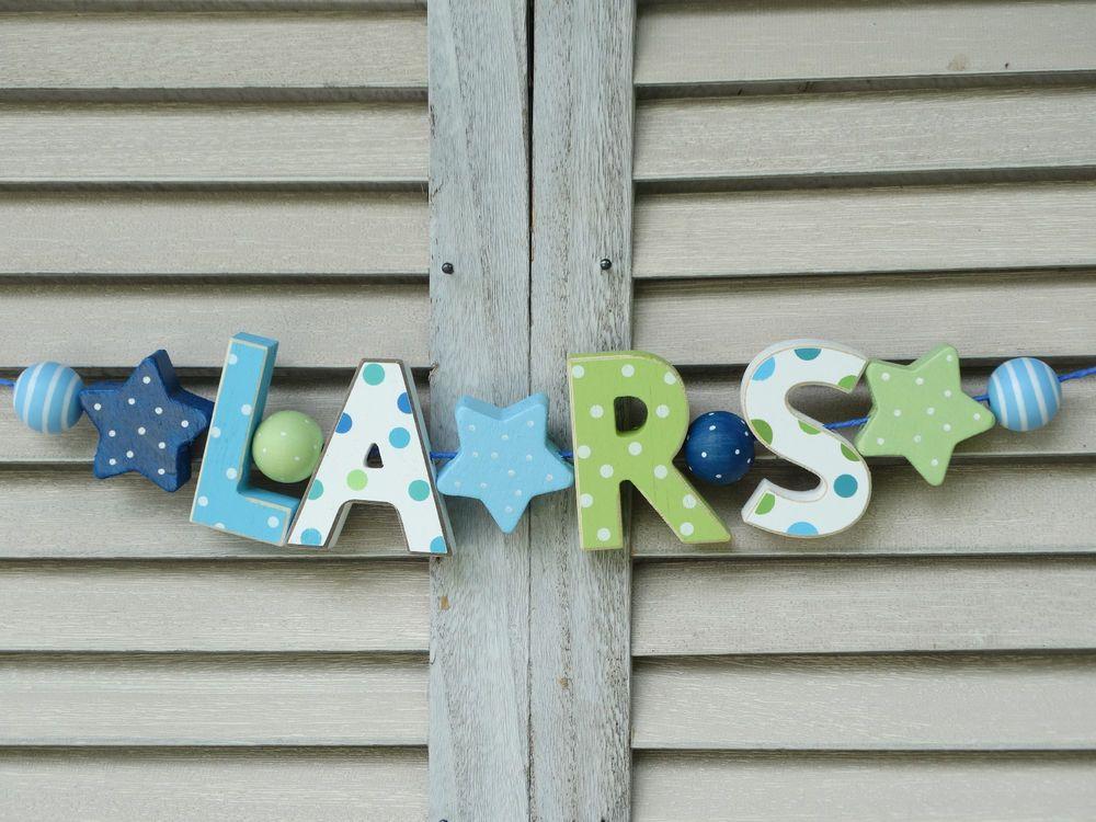 Holzbuchstaben für die Kinderzimmerwand oder Türe von