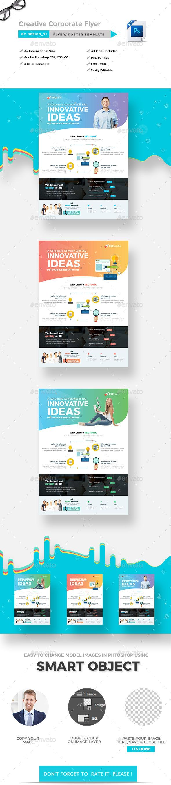 Creative Corporate Flyer Template Psd  Flyer Templates