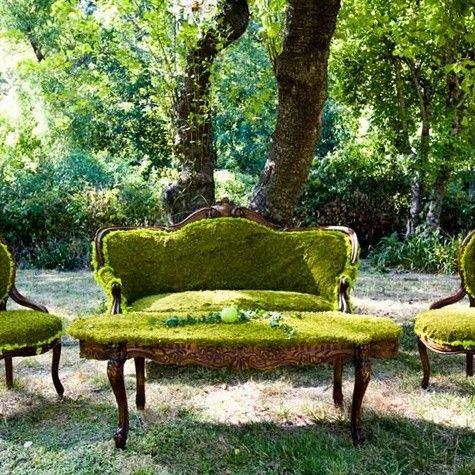 Literally garden furniture.