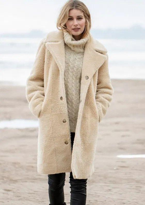 56 Best Shearling Coat Women's ideas | shearling coat womens, shearling coat,  coats for women