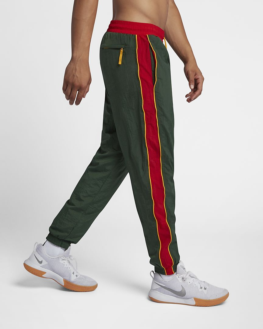 59c5dd0342cb Nike Throwback Men s Woven Tracksuit Basketball Pants SMALL