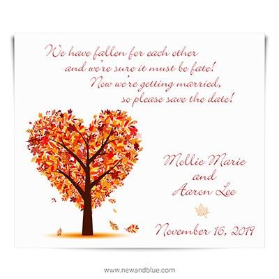 Autumn Romance Save The Date Magnets