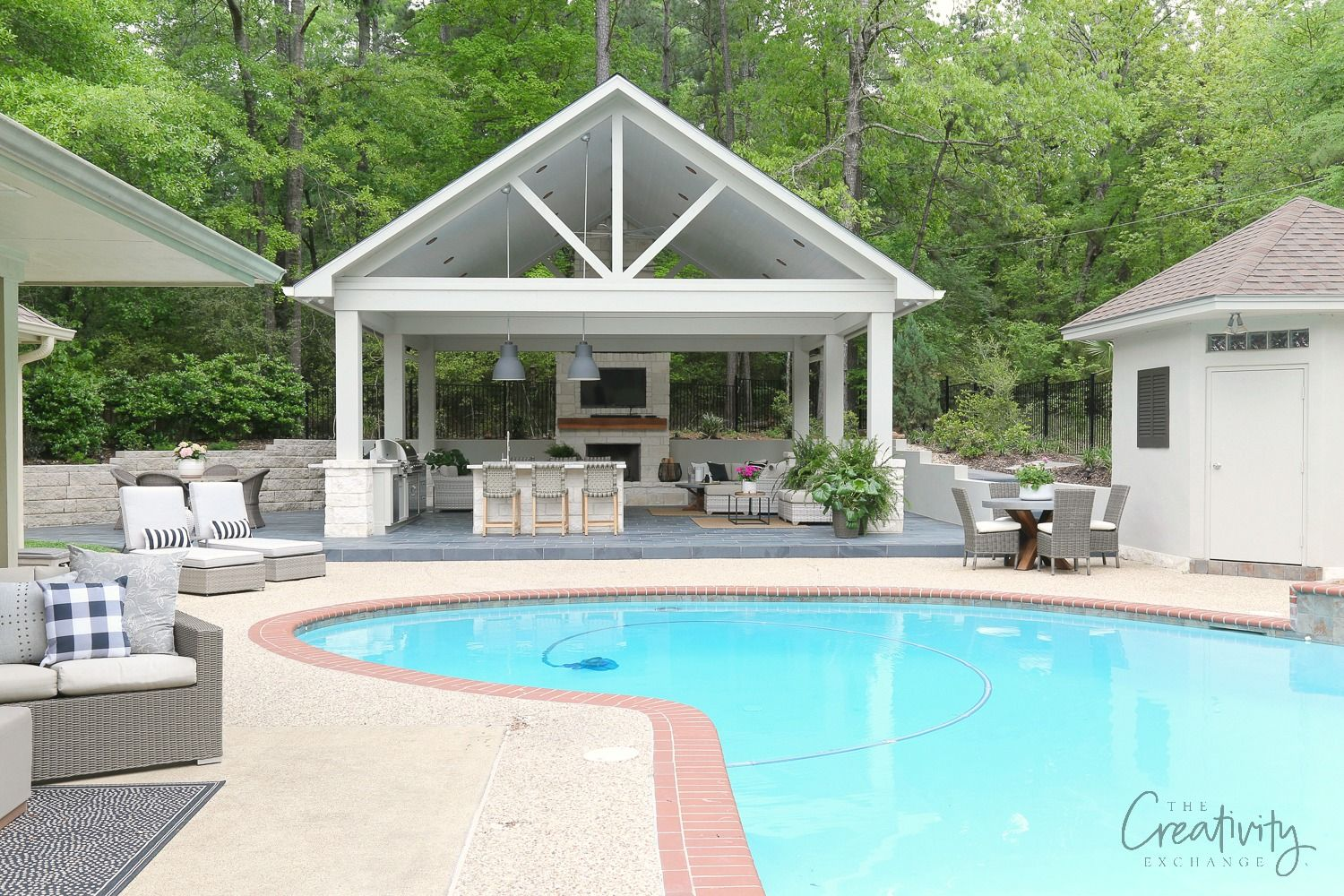 Outdoor Kitchen And Pool House Project Reveal Outdoor Remodel Pool Houses Outdoor Kitchen Design