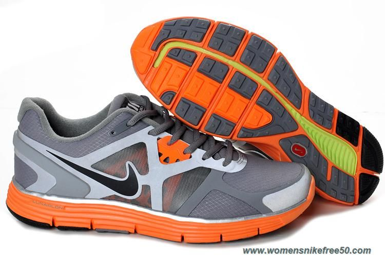 UK sale Women Nike Lunarglide 3 Shield Grey Total Orange Silver Shoes